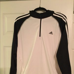 Adidas 1/4 zip with drawstring waist